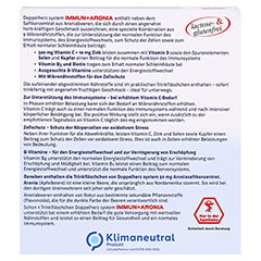 DOPPELHERZ Immun+Aronia system Ampullen 10 Stück - Rückseite
