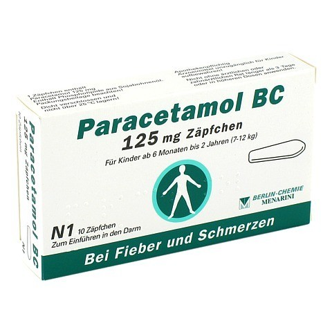Paracetamol BC 125mg 10 Stück N1