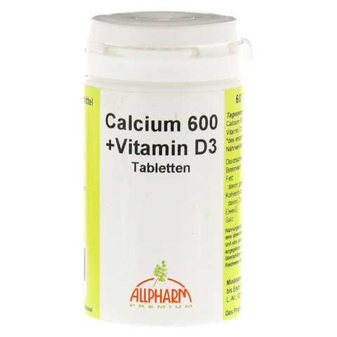 CALCIUM 600 mg+D3 Tabletten 60 St�ck