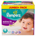 PAMPERS Active Fit Gr.4 maxi 7-18kg Jumbo plus Pa.