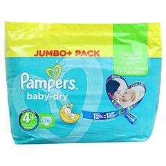 PAMPERS Baby Dry Gr.4+ maxi plus 9-20kg Jumbo plus 76 Stück - Vorderseite