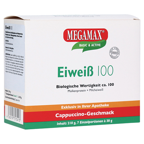 EIWEISS 100 Cappuccino Megamax Pulver 7x30 Gramm