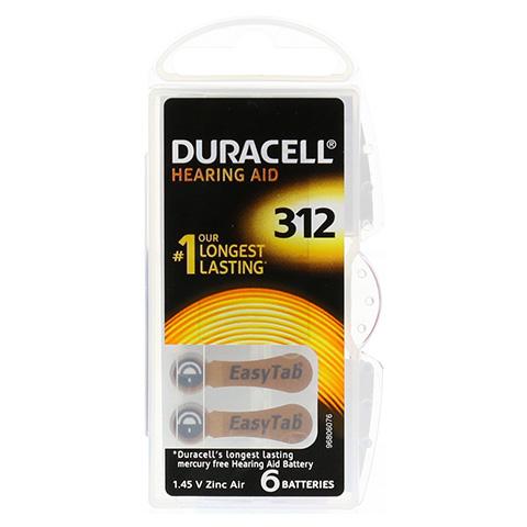 DURACELL EasyTab 312 PR41 6 Stück