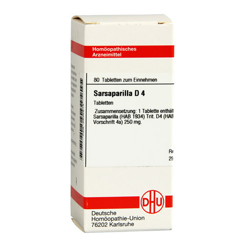 SARSAPARILLA D 4 Tabletten 80 Stück N1