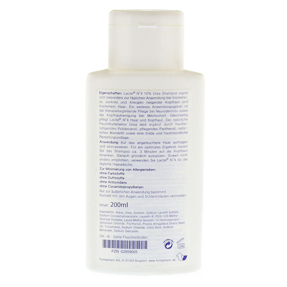 lactel nr 4 shampoo gegen trockene juckende kopfhaut 200 milliliter r ckseite. Black Bedroom Furniture Sets. Home Design Ideas
