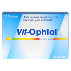 VIT OPHTAL mit 10 mg Lutein Tabletten 30 St�ck - Vorderseite