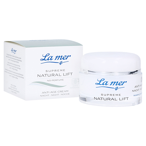 LA MER SUPREME Natural Lift Anti Age Cream Nacht ohne Parfüm 50 Milliliter