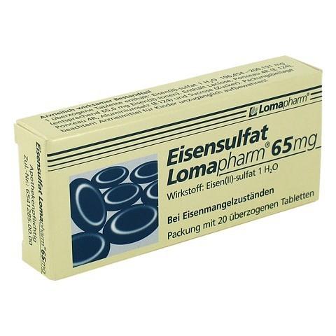 Eisensulfat Lomapharm 65mg 20 Stück N1