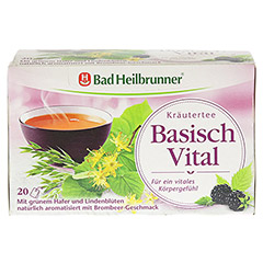 BAD HEILBRUNNER Kräutertee Basisch Vital Fbtl. 20 Stück - Vorderseite