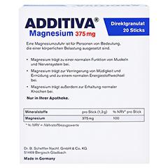 ADDITIVA Magnesium 375 mg Sticks Orange 20 Stück - Rückseite