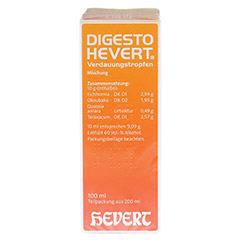 DIGESTO Hevert Verdauungstropfen 200 Milliliter N3 - Linke Seite