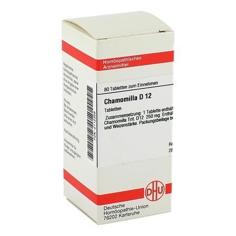 CHAMOMILLA D 12 Tabletten 80 Stück N1