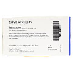 CUPRUM SULFURICUM D 6 Ampullen 8x1 Milliliter N1 - Rückseite