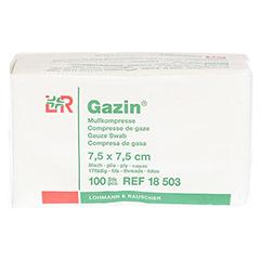 GAZIN Mullkomp.7,5x7,5 cm unsteril 8fach Op 100 St�ck - Vorderseite