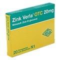 Zink Verla OTC 20mg 20 Stück N1