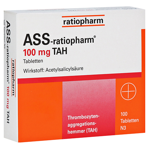 ASS-ratiopharm 100mg TAH 100 St�ck N3