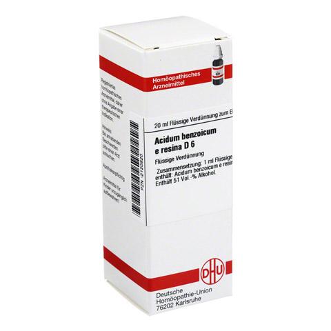 ACIDUM BENZOICUM e Resina D 6 Dilution 20 Milliliter N1