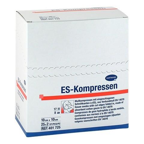 ES-KOMPRESSEN steril 10x10 cm 8fach CPC 25x2 Stück