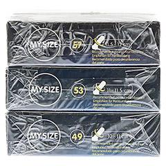 MYSIZE Testpack 49 53 57 Kondome 3x3 Stück - Unterseite