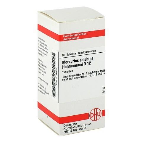 MERCURIUS SOLUBILIS D 12 Tabletten Hahnemanni 80 St�ck N1