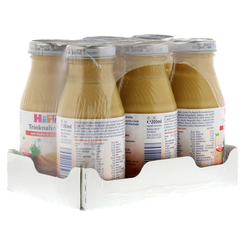 HIPP Trinknahrung Huhn Karotte hochkalor. 6x200 Milliliter