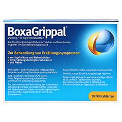 BOXAGRIPPAL 200 mg/30 mg Filmtabletten 10 Stück - Rückseite