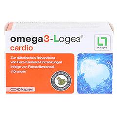 OMEGA 3-Loges cardio Kapseln 60 Stück - Vorderseite