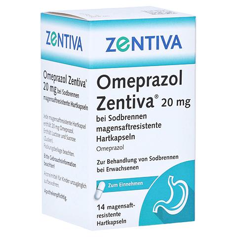 Omeprazol Zentiva 20mg bei Sodbrennen 14 St�ck