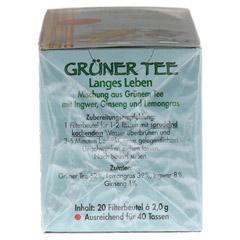 GRÜNER TEE+Ingwer+Ginseng Filterbeutel 20 Stück - Linke Seite