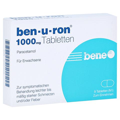 Ben-u-ron 1000mg 9 St�ck N1