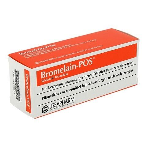 BROMELAIN POS magensaftresistente Tabletten 50 Stück N2