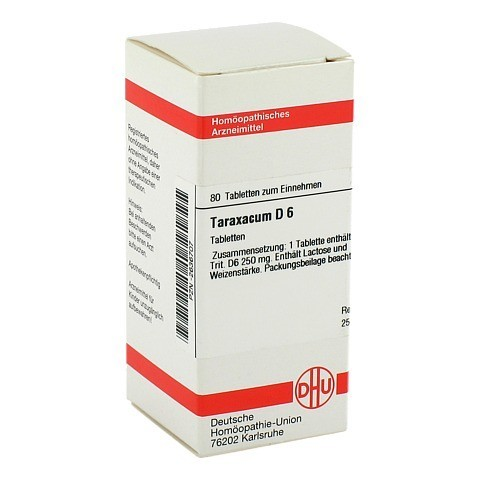 TARAXACUM D 6 Tabletten 80 St�ck N1