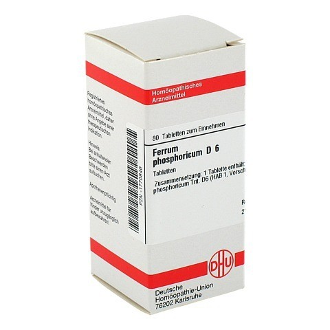 FERRUM PHOSPHORICUM D 6 Tabletten 80 St�ck N1