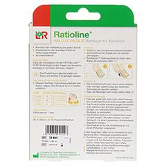 RATIOLINE Hallux valgus Bandage zur Korrektur Gr.L 1 Stück - Rückseite