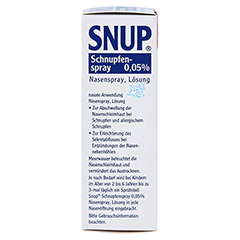Snup Schnupfenspray 0,05% 10 Milliliter N1 - Linke Seite