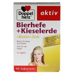 DOPPELHERZ Bierhefe+Kieselerde Tabletten 30 Stück - Vorderseite