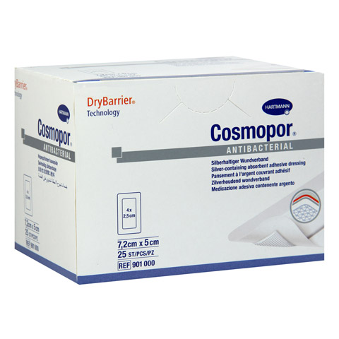 COSMOPOR Antibacterial 5x7,2 cm 25 Stück