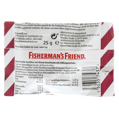 FISHERMANS FRIEND Cherry ohne Zucker Pastillen 25 Gramm - R�ckseite