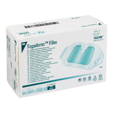 TEGADERM 3M Film I.V. 6x7 cm 1623W 100 St�ck