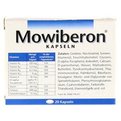 MOWIBERON Kapseln 20 Stück - Rückseite
