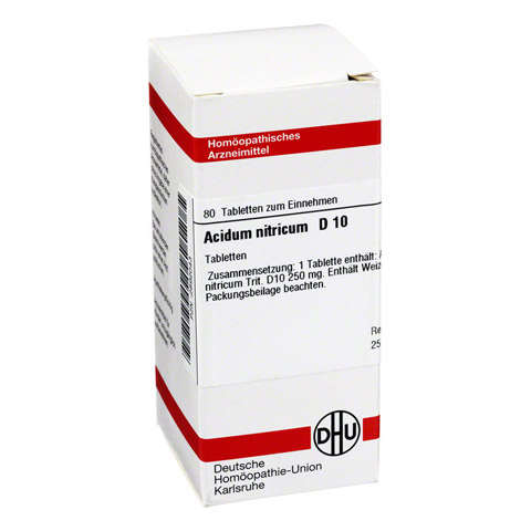 ACIDUM NITRICUM D 10 Tabletten 80 St�ck N1