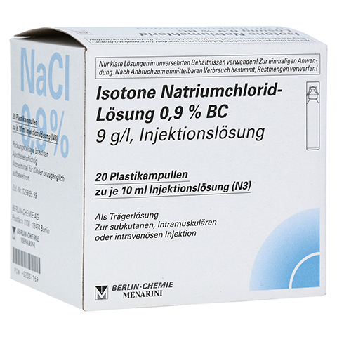 ISOTONE NaCl L�sung 0,9% BC Plast.Amp.Inj.-Lsg. 20x10 Milliliter N3