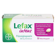 LEFAX intens Flüssigkapseln 250 mg Simeticon 50 Stück - Vorderseite