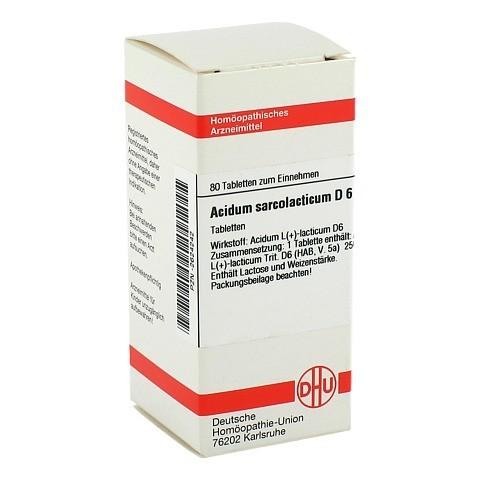 ACIDUM SARCOLACTIC D 6 Tabletten 80 St�ck N1