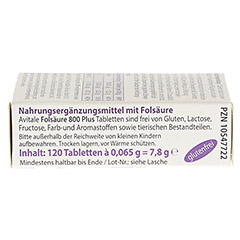 FOLS�URE 800 Plus B12+Jod Tabletten 120 St�ck - Linke Seite