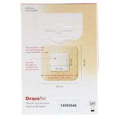 DRACOPOR Wundverband 3,8x3,8 cm steril hautfarben 10 Stück - Rückseite