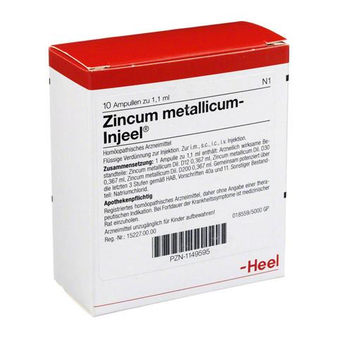 ZINCUM METALLICUM INJEEI Ampullen 10 Stück N1