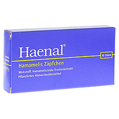 Haenal Hamamelis Zäpfchen 10 Stück N1