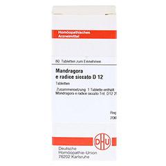 MANDRAGORA E radice siccata D 12 Tabletten 80 Stück N1 - Vorderseite