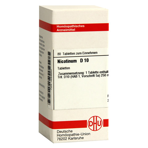 NICOTINUM D 10 Tabletten 80 St�ck N1